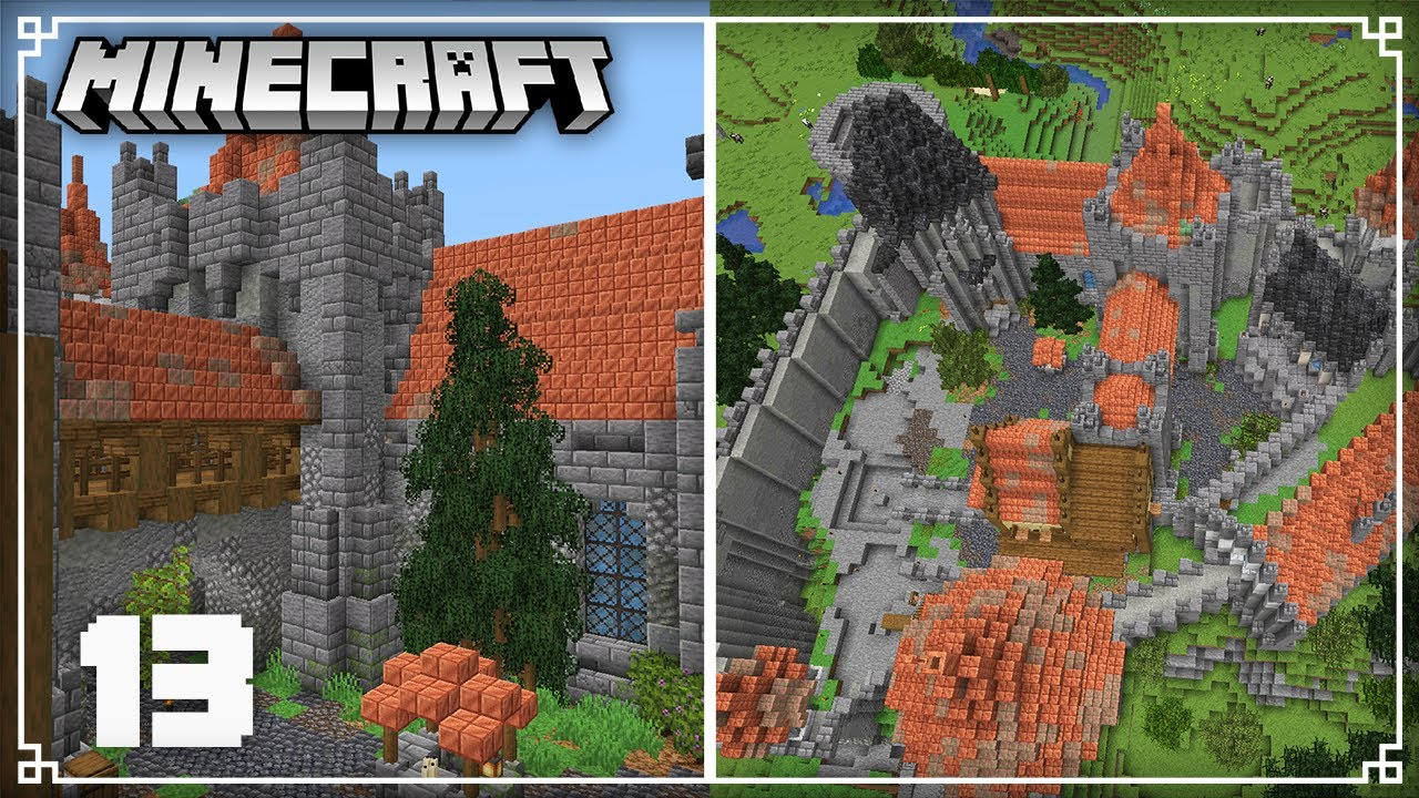 The Castle is Halfway done! | Minecraft 1.17 Survival Lets Play