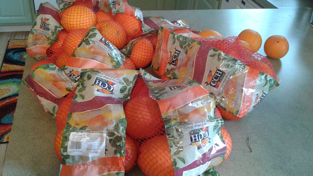 What to do with 12 bags of Oranges...