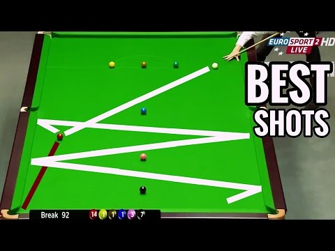 TOP SNOOKER SHOTS!! MOST AMAZING SNOOKER SHOTS OF ALL TIME!!