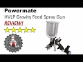 Powermate HVLP Gravity Feed Spray Gun review P010-0037SP