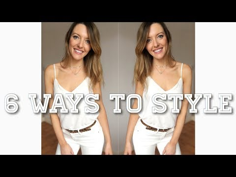 6 ways to style a white camisole lookbook