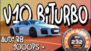 The first ride in Benni's Audi R8 TwinTurbo with over 1000hp! - 100-200 in 4,0s | Philipp Kaess |