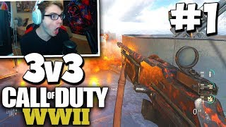 OUR FIRST GB ON WW2! - COD WW2 3v3 GAMEBATTLES #1 (All Maps) w/ Red House!