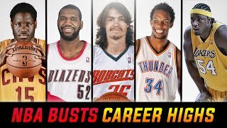 Career High Stats Of NBA's Biggest Busts!