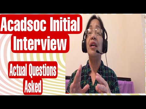 initial-interview-acadsoc:-actual-interview-question