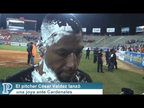 César Valdez lanzó una joya ante Cardenales. Luis Bravo 10-01-13