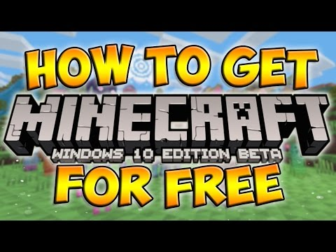 How To Get Minecraft Windows 10 Edition Beta For Free! (Minecraft Windows 10 Tutorial) [Simple]