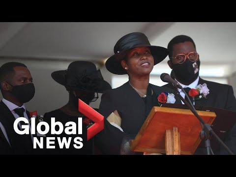 He-stole-my-heart-Wife-of-slain-Haiti-president-Moise-pays-tribute-to-husband-at-funeral