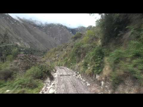 South America train from Ollaytantambo to  Machu Picchu