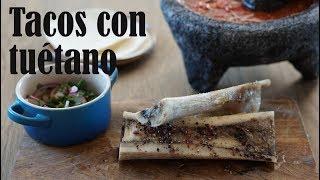 Tacos con tuétano
