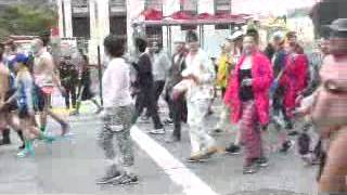 Red Hot Chili Pepper Imitator At 2015 Bay To Breakers Old Nude White  Man