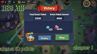 Realm Defense Connie awakening event - chapter 1 - 4906 points - 1188 kill