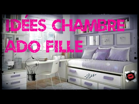 Id es d co de chambre ado fille youtube for Idee chambre