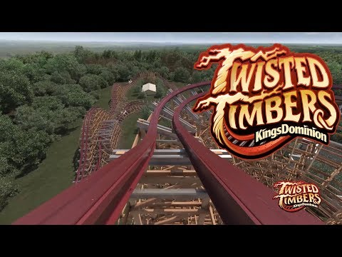 Twisted Timbers POV (New for 2018 Kings Dominion Roller Coaster)