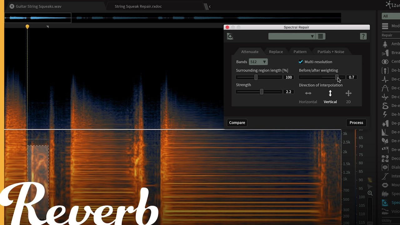 iZotope RX 6: Using Spectral Repair on Guitar | Reverb Demo Video