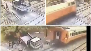 Accident videos#39. CCTV Caught accident betweens Train and truck, live Accident Live Viral videos