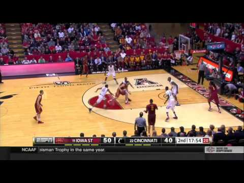 Iowa State Men's Basketball Highlights vs. Cincinnati (courtesy ESPN2)