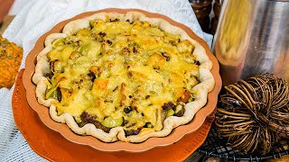 Apple, Pear, and Sausage Breakfast Pie - Home & Family