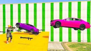 8-Player Rockets VS Flying Vehicles - GTA V Online Funny Moments | JeromeACE