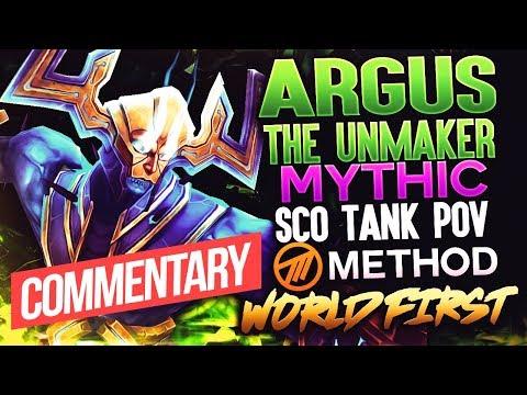 WF Mythic Argus the Unmaker - Tank Commentary - Antorus - Method Sco