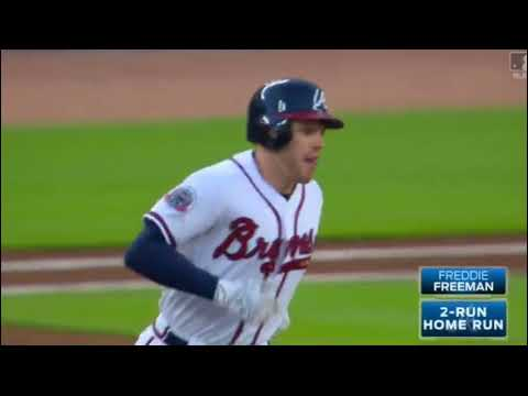 All of Freddie freeman's Home runs from the 2017 MLB season so far