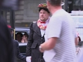 James Corden stops London traffic as Mary Poppins