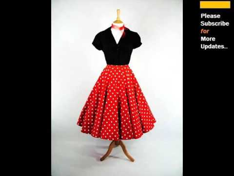 Red Polka Dot Skirt | Polka Dot Cotton Clothing Romance - YouTube