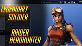LEGENDARY RAIDER HEADHUNTER: Fortnite Legendary Soldier Gameplay