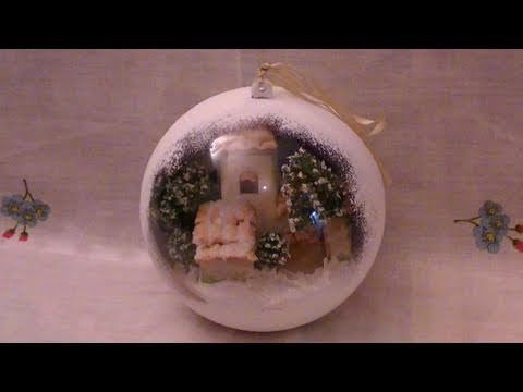 Tutorial: Sfera di plexiglass con effetto neve from YouTube · Duration:  12 minutes 57 seconds  · 325.000+ views · uploaded on 11-11-2010 · uploaded by Sephila Creations - Easy&Fun DIY Tutorials