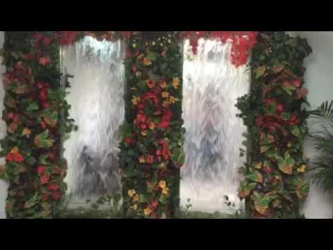 Jard n vertical espejo de agua youtube for Espejos para jardin