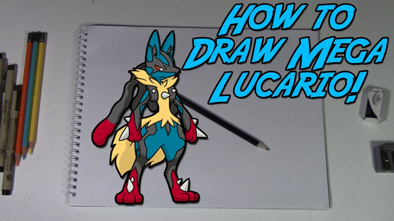 How To Draw Mega Lucario!  Pokemon Zoroart With N!