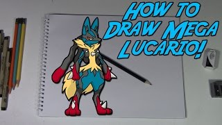 How To Draw Mega Lucario! | Pokemon Zoroart With N!