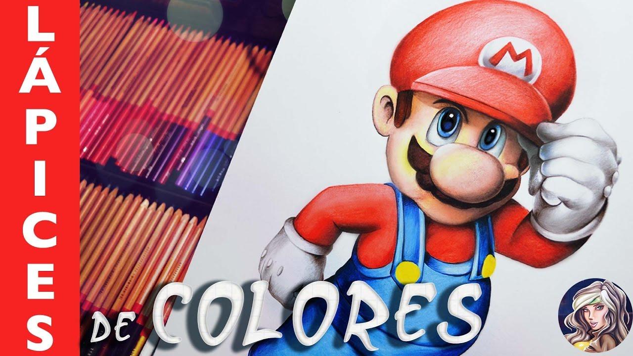 Como Dibujar A Mario Bros Lapices De Colores Youtube