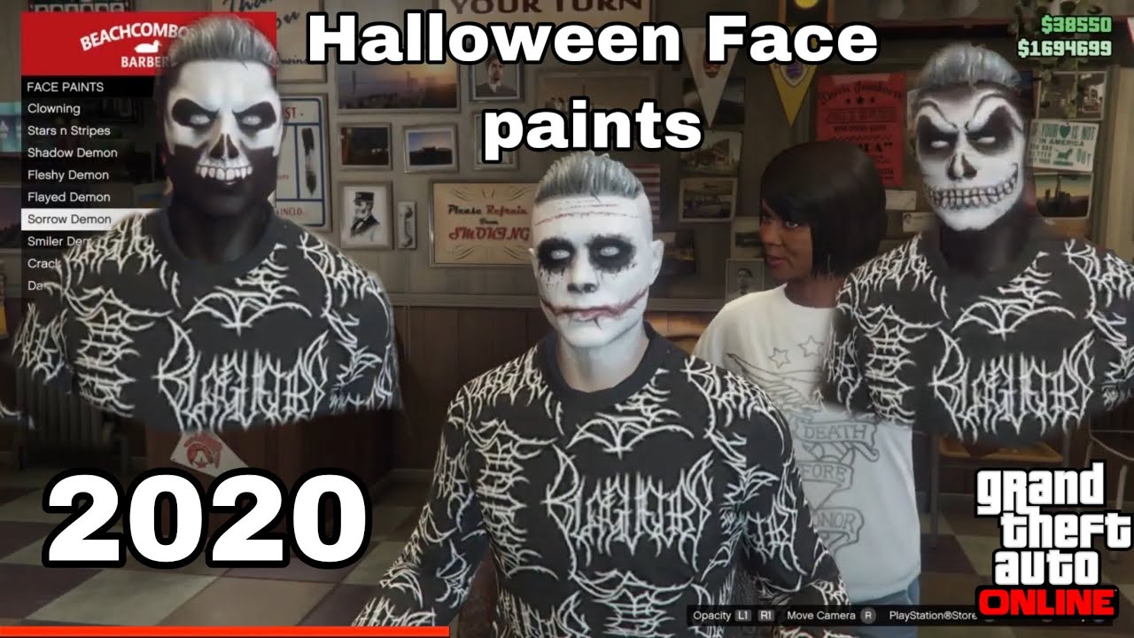 Halloween 2020 Gtav GTA ONLINE HALLOWEEN FACE PAINTS 2020 (+How to save them)   YouTube