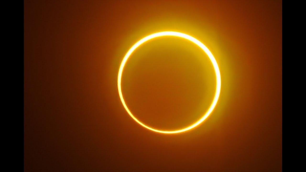 "Eclipse solar maravilló al mundo con su asombroso ""anillo de fuego"" -  YouTube"