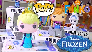 DISNEY FROZEN Funko Pop Collection Elsa, Anna, Upside down Olaf - Kids' Toys