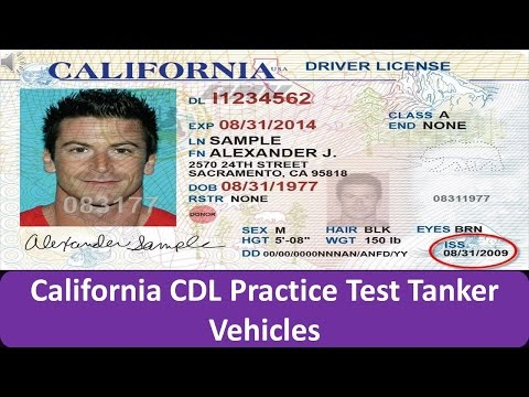 California CDL Practice Test Tanker Vehicles