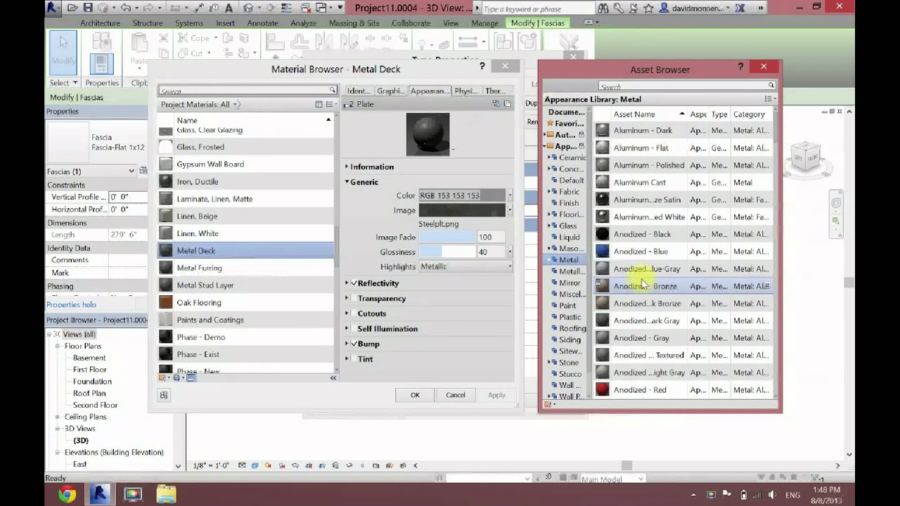 How to change materials and render appearance in revit for How to change color of furniture