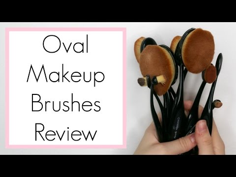 Oval Makeup Brushes Review: First Impression & Demo || BeautyChickee