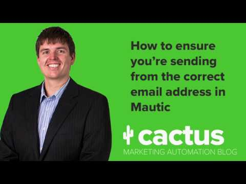 How to ensure your Mautic campaign emails are coming from the correct email  address