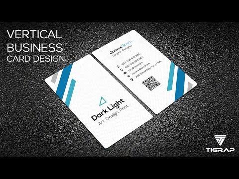 Vertical Business Card Design | Tigrap thumbnail