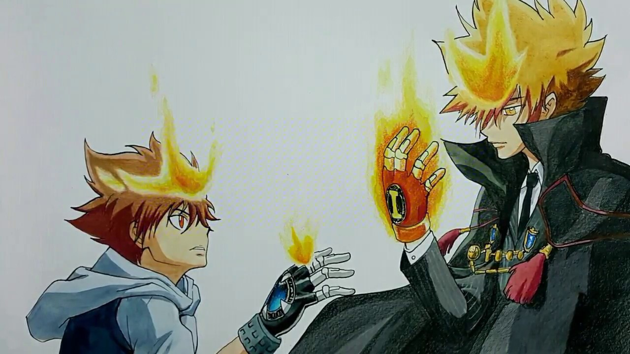 Speed Drawing Tsunayoshi Sawada And Vongola No1 Katekyo Hitman