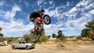 25ft PITBIKE DOUBLE!!