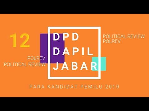 CALON DPD DAPIL JAWA BARAT PEMILU 2019 from YouTube · Duration:  1 minutes 52 seconds