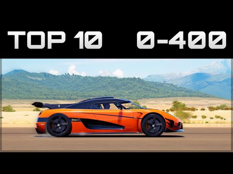 TOP 10 FASTEST 0-400 CARS | Forza Horizon...