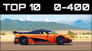 Video TOP 10 FASTEST 0-400 CARS | Forza Horizon 3 | Insane Accelerations! download MP3, 3GP, MP4, WEBM, AVI, FLV Desember 2017