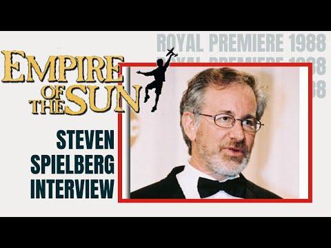 Steven Spielberg Interview 1988 - London Premiere of Empire of the Sun