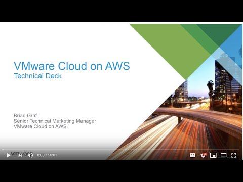 VMware Cloud On AWS: Tech Deep Dive Webinar