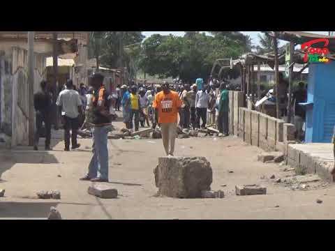 Togo/Vidéo/Résistance des manifestants autour du siège de la CDPA