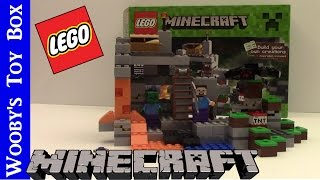 LEGO Minecraft - The Cave 21113 : Unboxing & Speed Build